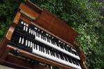 Hammond B3 restored and singing for the congregation in a gospel church in London