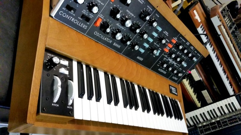 Minimoog D reissue in our music room